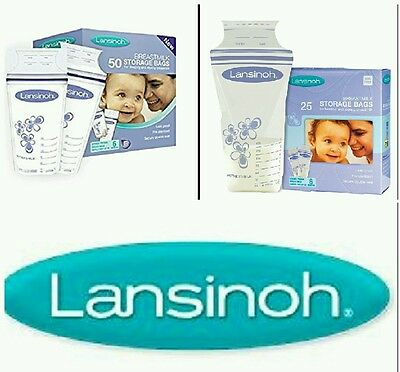 Lansinoh Breastmilk Storage Bags Baby Milk Freezing (25/50 Pieces)