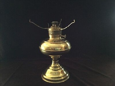 Bradley Hubbard brass antique oil lamp