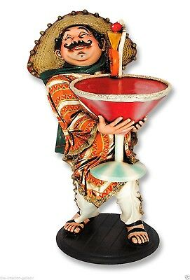 Mexican Cocktail Waiter Statue 3FT - Cocktail Waiter Statue - Waiter Statue 3 ft