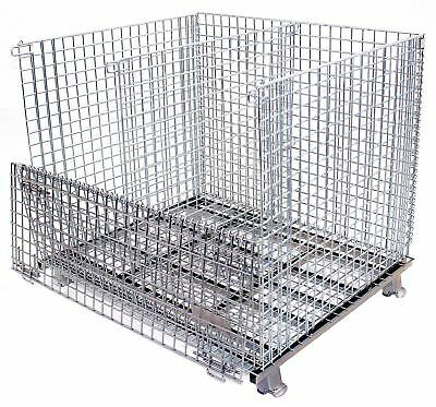 Worldwide Material Handling Collapsible Container, 32 In L, Silver -