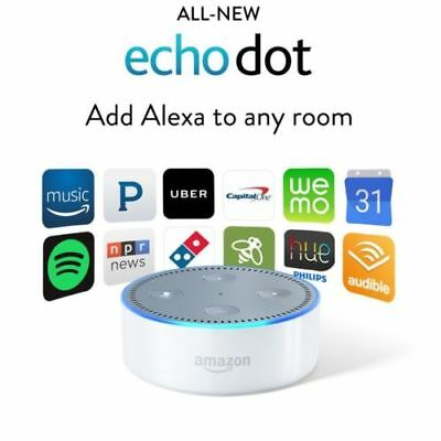 Amazon Echo Dot (2nd Generation) Smart Assistant - White   -Latest Version NEW