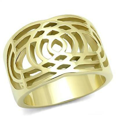Women's Yellow Gold Plated Classy Fashion Ring No Stone 5 6 7 8 9 10 TK3119