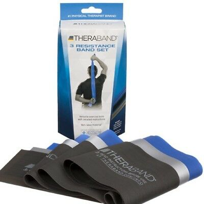 """TheraBand 3 Resistance Band Set Advance Non-Latex Material """"NEW"""" """"FREE SHIPPING"""""""