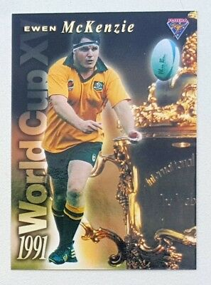 1995 Futera Rugby Union World Cup XV insert card #WC3 Ewen McKenzie