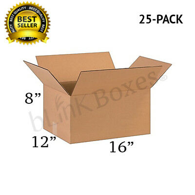 16x12x8 Packing and Shipping boxes of Carton for Moving and delivery(25PACK)