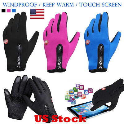 US Windproof Men's Women' Winter Ski Warm Gloves Motorcycle Touch Driving Gloves
