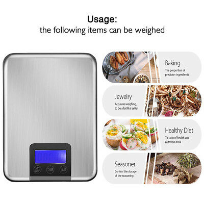 5KG/15KG 1g Slim Stainless Steel Digital Scale Electronic Food Kitchen Scales