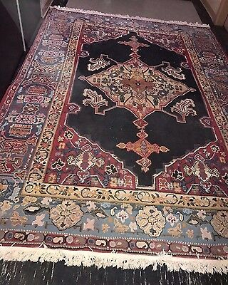Rare Vintage Anatolian Konya Karaman Cross Woven Prayer Colorful Extra Big Rug
