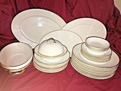 Set Of 32 Pieces Victoria Austria Dinnerware Antique Plates Set