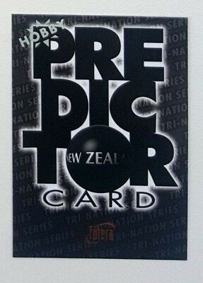 1996 Futera Rugby Union Hobby Predictor card #PC3 New Zealand