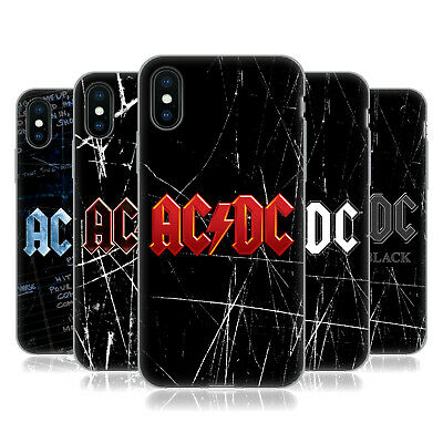 OFFICIAL AC/DC ACDC LOGO SOFT GEL CASE FOR APPLE iPHONE PHONES