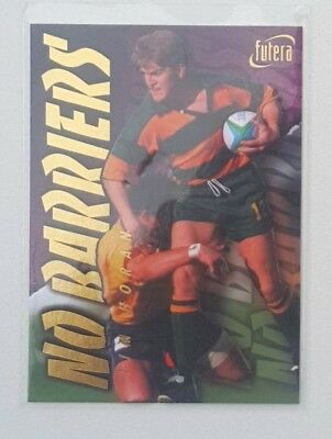 1996 Futera Rugby Union No Barriers insert card #NB4 Tim Horan