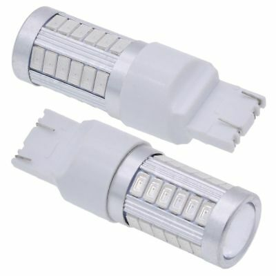 2pc White T20 7440 7443 5630 33SMD LED Car Backup Reverse Light Bulb from Canada