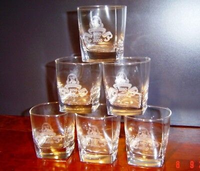 JACK DANIELS WHISKEY 150th BIRTHDAY ANNIVERSARY GLASS TUMBLER NEW RARE SET OF 6