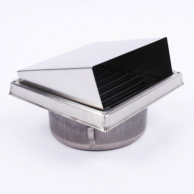 Square Stainless Steel Wall Air Vent Metal Cover Outlet Exhaust Grille 150mm AU