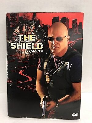 The Shield: Season 3 (4-Disc Set, DVD, 2005) FREE SHIPPING!!!