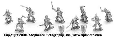 Old Glory Crusaders & Saracens 25mm Third Crusade - Dismounted Knight Pack MINT
