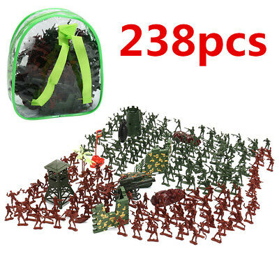 Military Plastic Toy Soldiers Kit Army Men 4cm Figures Accessories Play Set New
