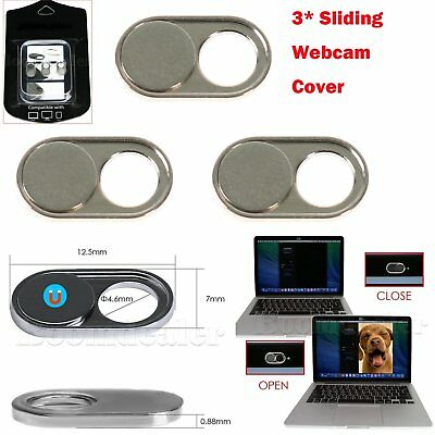 3* Sliding Web-cam Cover Lens for Laptop Android Tablet iPhone Strong Easily New