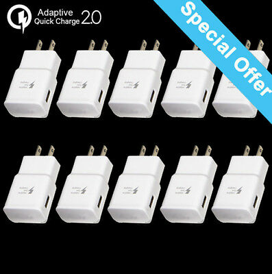 Lot Adaptive Fast Rapid 2A Wall Plug Charger / Cable For Samsung HTC LG Android