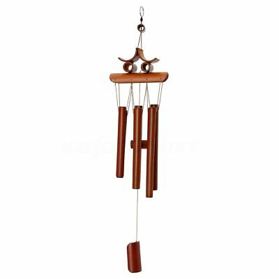 Bamboo Wind Chime Windchime Garden Yard Ornament Decoration Home Decor Luck U5Y2