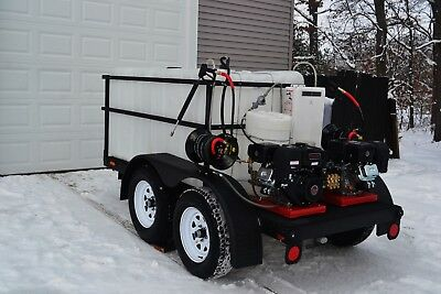 Pressure Washing Trailer / Hot & Cold / Fully Remote Control 2-Step Soap System