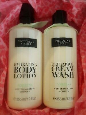 Victoria's Secret Verbena Hydrating Body Lotion & Ultra Rich Cream Wash