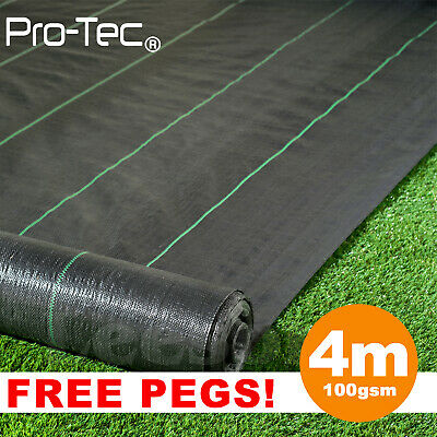 4m wide 100gsm weed control landscape fabric ground cover membrane Heavy Duty