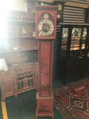 Oriental Style West minister Clock Red Lacquer