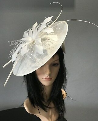 IVORY ASCOT WEDDING Disc Hatinator Hat Mother Of The Bride - £39.99 ... b97fcdc4ae0