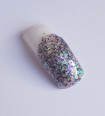 Mixed coloured glitter acrylic powder NSI pre-mixed 3g pot chunky  unicorn
