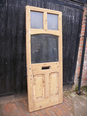 Reclaimed Victorian / Edwardian stripped pine front door