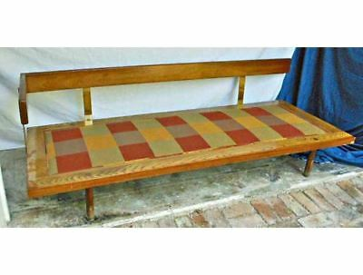 Daybed Vintage Mid Century Modern Original Fabric Brass Arm Billy Pate