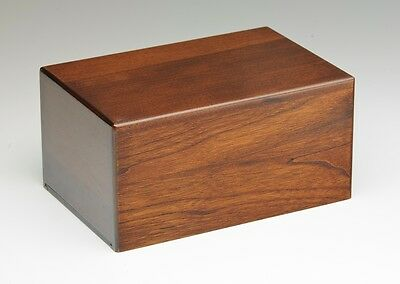 Wooden Cremation Urns - 2nd Quality - Bargain! - EXTRA LARGE Size - Walnut Color