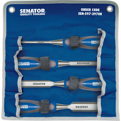 Senator 6-25Mm Bevel Edge Wood Chisel Set 4-Pce