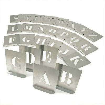 Kennedy 80mm (set OF 26) Steel Stencil Letters