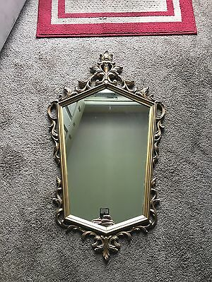 Rare LARGE 4110 Syroco Gold Wall Mirror Hollywood Regency Vintage unique decor