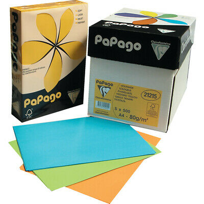 Papago A4 Copier Paper Bright Red 80GSM (500)