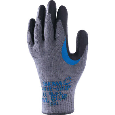 Showa 330 Palm-Side Coated Grey/Black Re-Grip Gloves - Size 9 - Pack Of 5