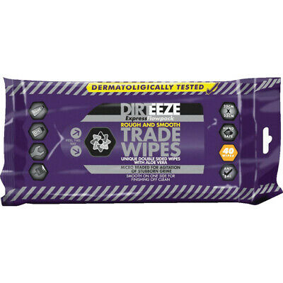 Dirteeze Flowpack Rough & Smooth Trade Wipes, Pack Of 40