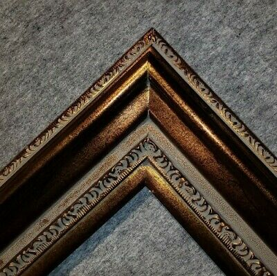 "5"" WIDE Fancy Bronze Gold Oil Painting Wood Picture Frame4art 446AG"