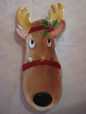 FitzAnd Floyd Snack Therafitz & Floyd Snack Therapy Reindeer Tray Platter Plate