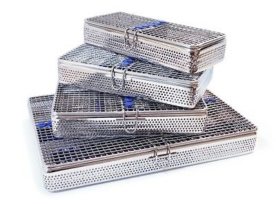 Perforated Mesh Sterilisation Tray Rack Cassette Dental Surgical Vet Instruments