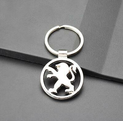 Car logo 3D Hollow Keychain Chrome Metal Key Chain Keyring Gift For Peugeot