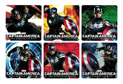 12 Avengers Captain America The Winter Soldier Stickers Birthday Party Bag Favor