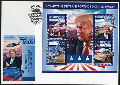 Chad 2017  Modes Of Transportation  For  Donald Trump Sheet Fdc