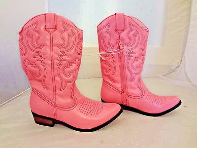 Cherokee Gregoria Pink Western Cowboy~Cowgirl Boots~Girls Youth 4 5