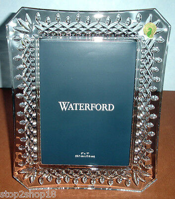 "Waterford LISMORE Crystal Photo Picture Frame 5x7"" #107750 New"