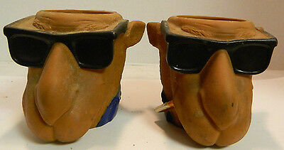 "Vintage Pair of Joe Cool Camel Cozie Smooth Character 5"" x 4"" x 4.75"" Very Good"
