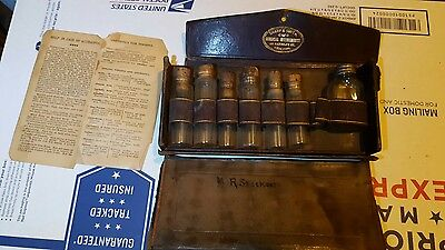 Reduced 1876 T0 1872 Sharp & Smith Antique Emergency Home Kit Original Case